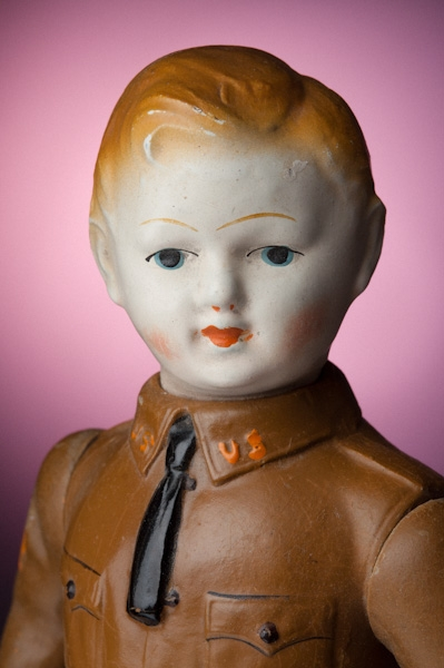 Vintage boy scout doll toys fine art photography