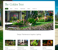 Web design for The Golden Tree Landscaping