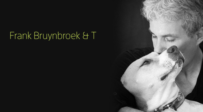 A portrait of Frank Bruynbroek and his dog T