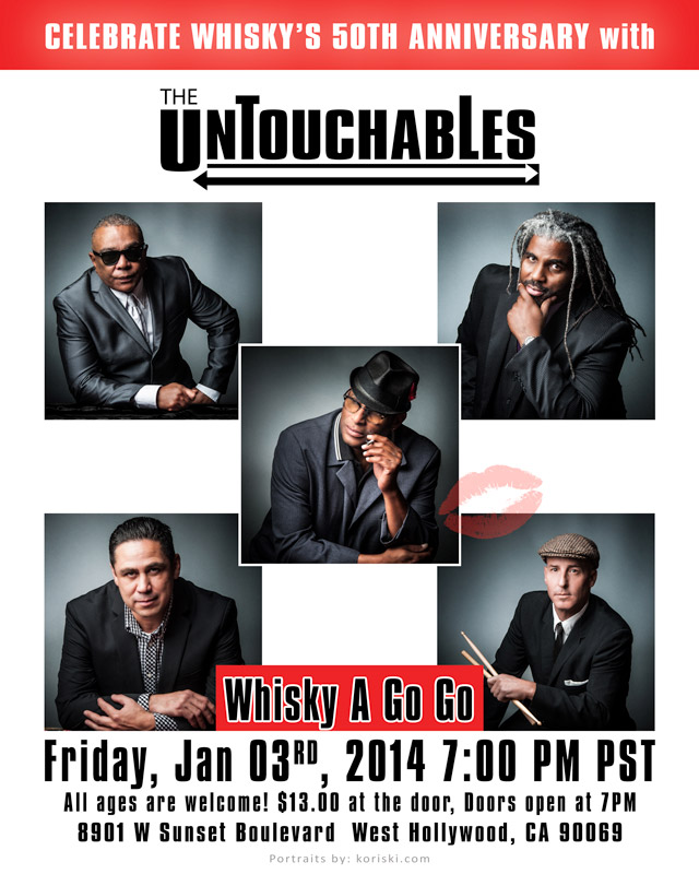 The Untouchables Jan 3rd show poster