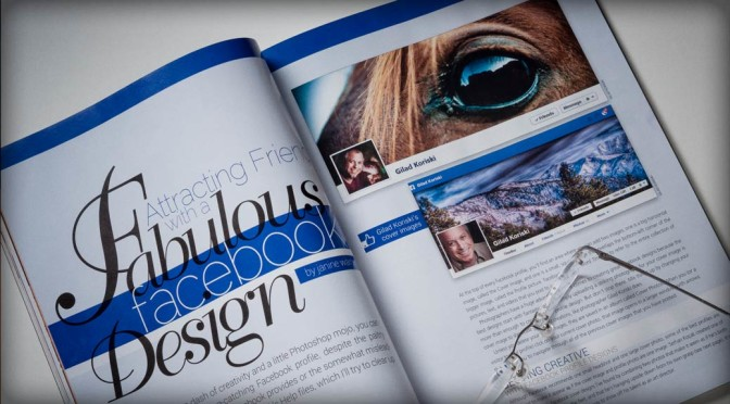 Gilad Koriski facebook profile Photoshop user magazine featured