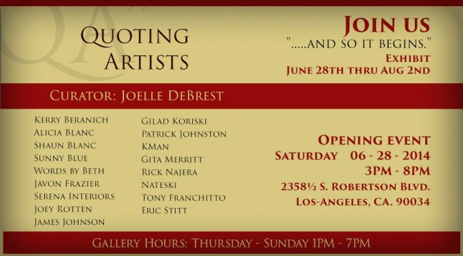 """Quoting Artists"" gallery opening"