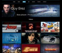 Web design for Guy Erez